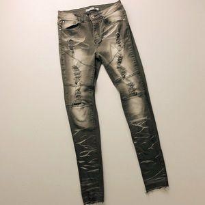 Asos Blue topic Jeans distressed Denim high rise